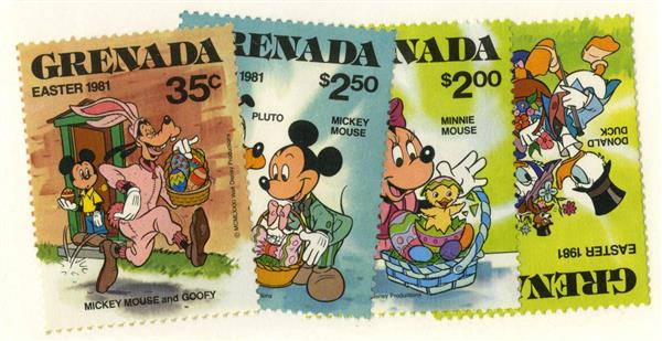 Grenada 1981 Easter Baskets, 4 Stamps