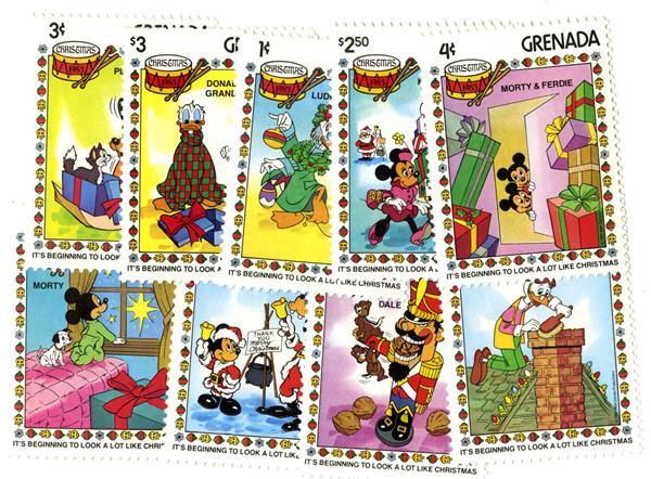 Grenada 1983 Christmas, 9 Mint Stamps
