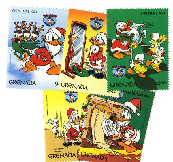 Grenada 1984 Donalds 50th, 5 Stamps