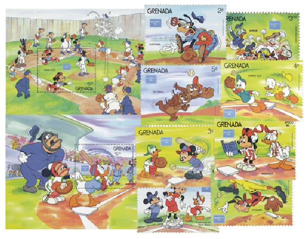 Grenada 1986 AMERIPEX: Baseball