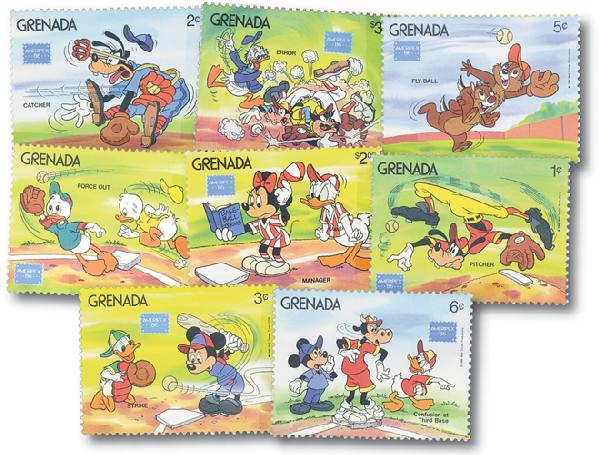Grenada 1986 Play baseball, 8 Stamps