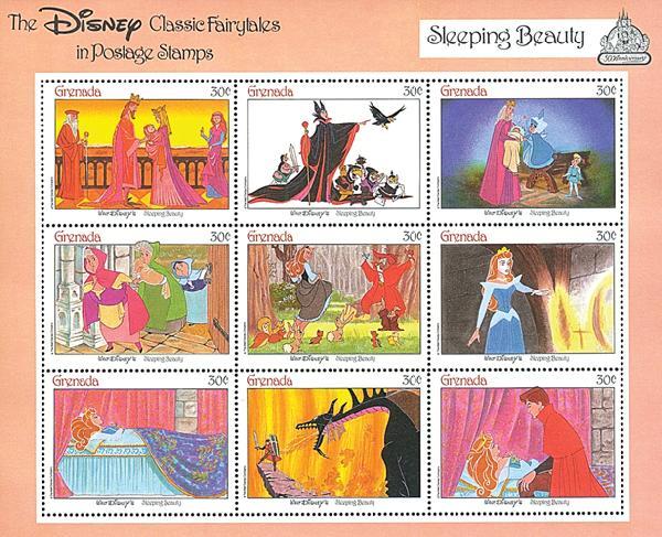 Grenada 1987 Sleeping Beauty, Mint