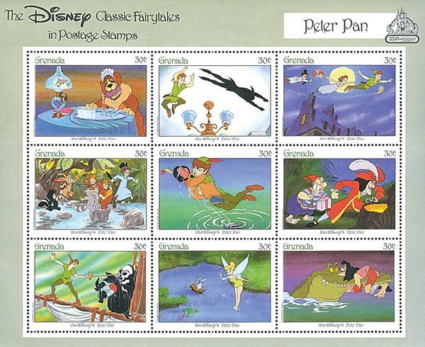 Grenada 1987 Peter Pan, Mint