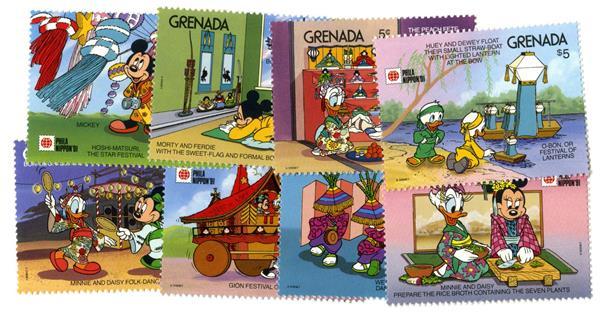 Grenada 1991 Festivals of Japan 8 Stamps