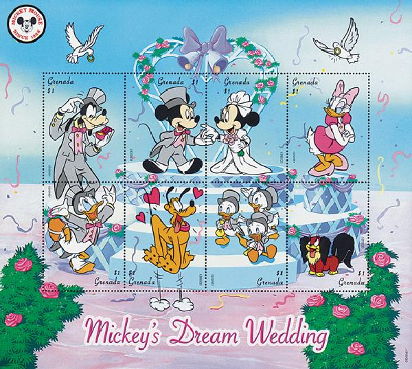 Grenada 1998 Dream Wedding, 8 Stamps