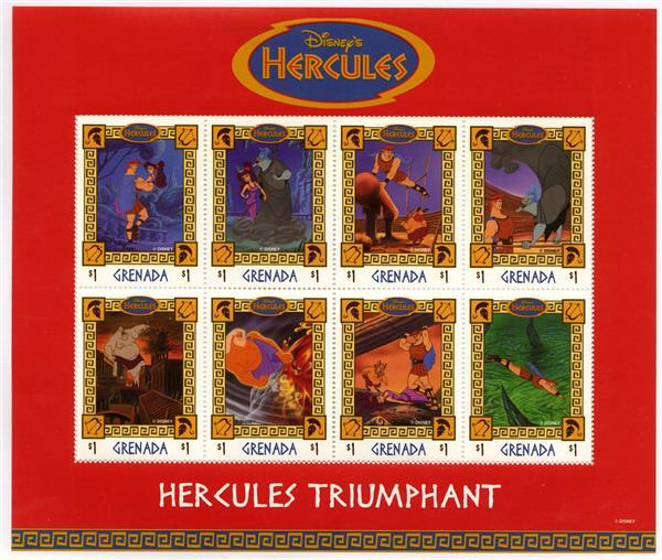Grenada 1998 Hercules Triumphs 8 Stamps