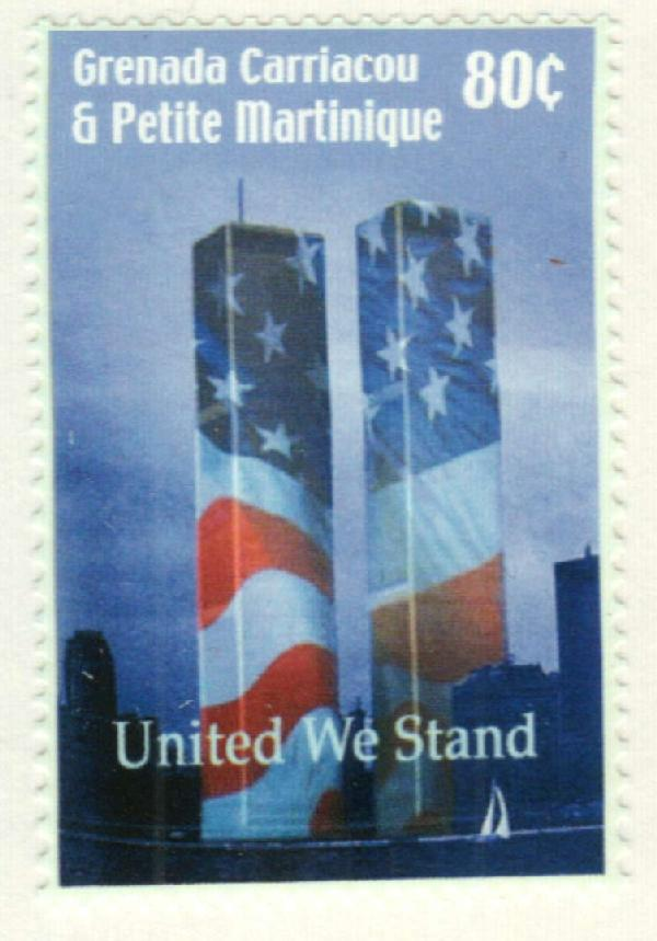 2002 Grenada Grenadines - United We Stand 9/11 tribute