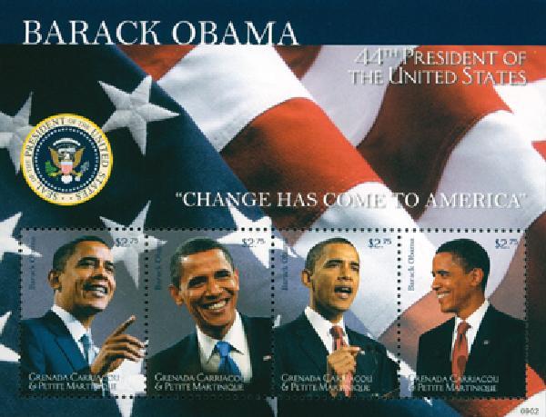 2009 Grenadines President Obama 4v M