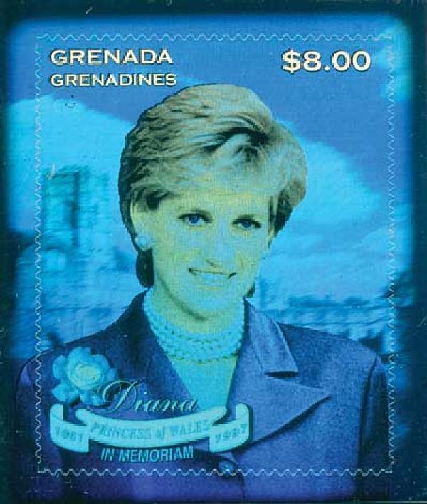 1998 Grenadines Princess Diana Hologram