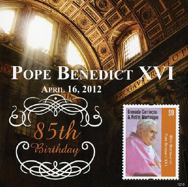 2012 Grenadines Pope Benedict 85th bday
