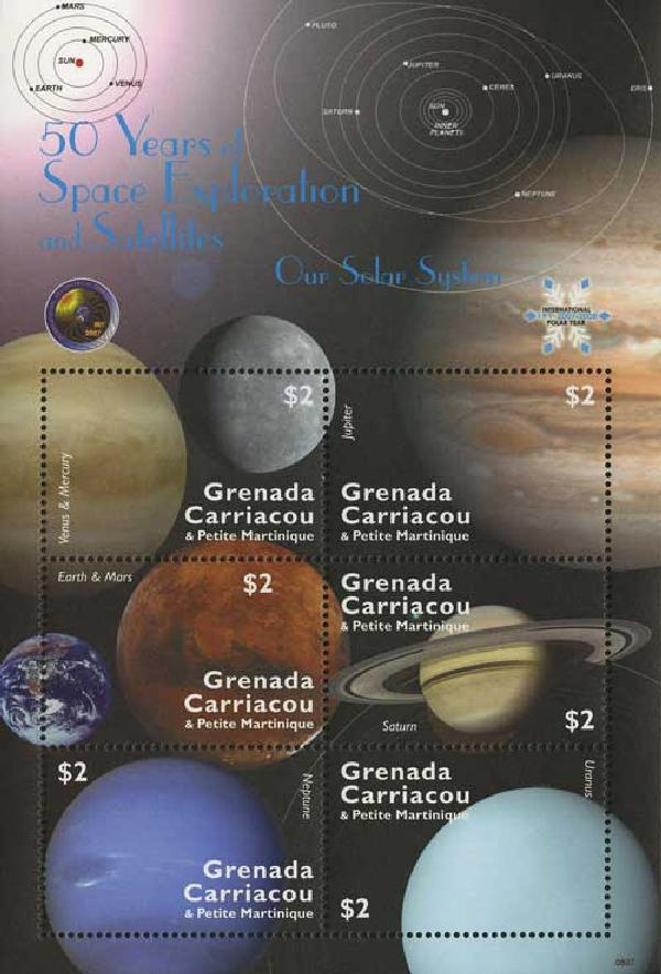 2008 Grenadines 50 Yrs Our Solar System