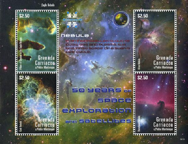 2008 Grenadines Nebula 50 Yrs of Space