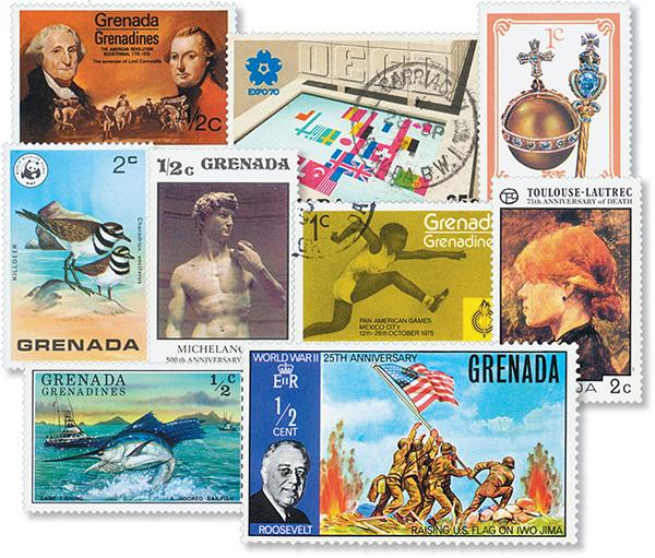 Grenada Grenadines, 200 stamps