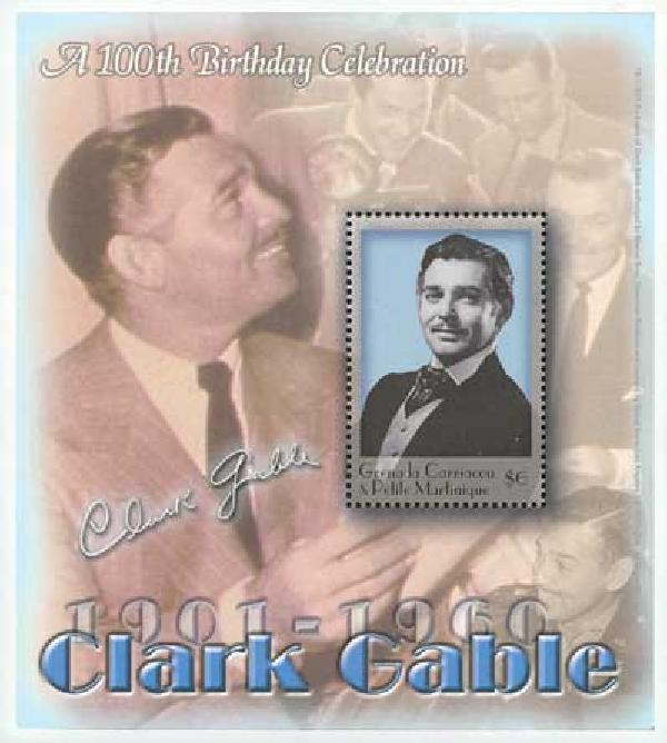 Grenada - $6 Clark Gable Souvenir Sheet