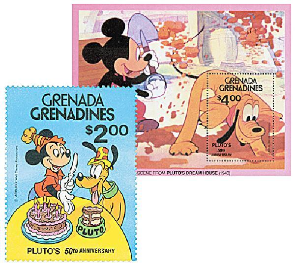 Grenadines 1981 IYC: Plutos 50th Anniv.