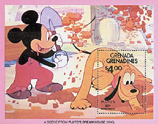 Grenadines 1981 Plutos Dream House, S/S