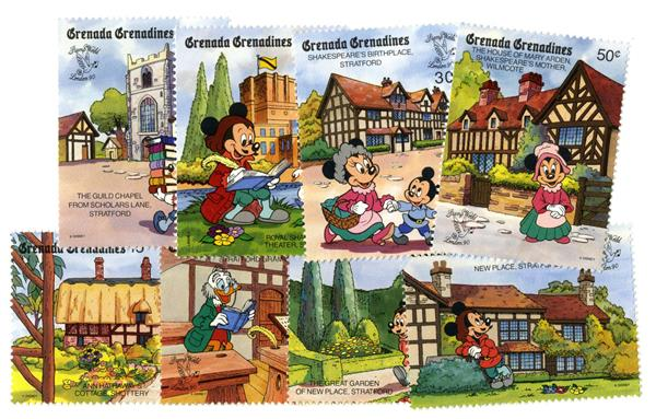 Grenadines 1990 Shakespear, 8 Stamps