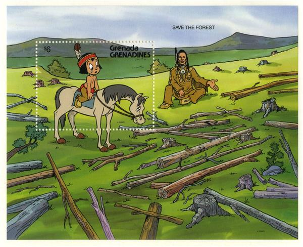 1991 Disney and Friends Help Save the Environment, Mint Souvenir Sheet, Grenada Grenadines