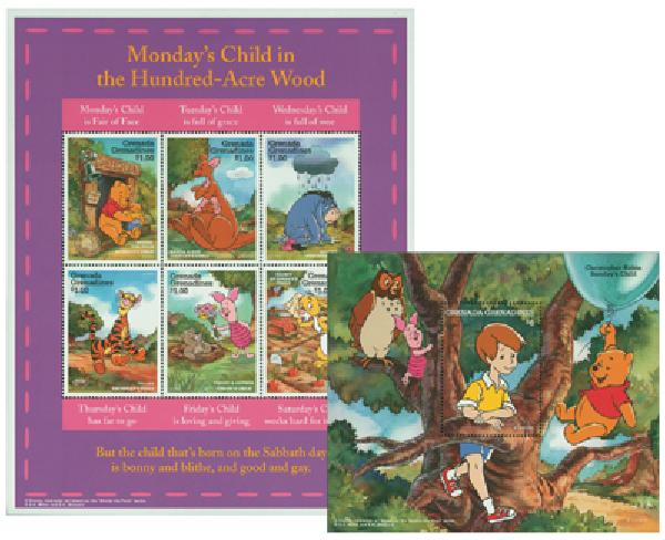 Grenadines 1997 'Winnie the Pooh'