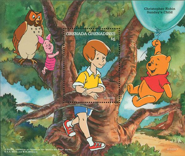 Grenadines 1987 Christopher Robin, S/S