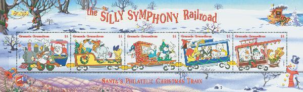 Grenadines 1998 Silly Symphony, 5 Stamps