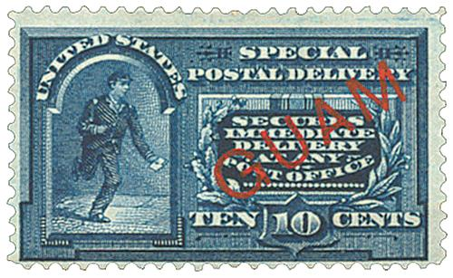 1899 10c Guam Special Delivery, blue