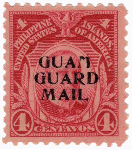 1930 4c carmine, Guam guard mail