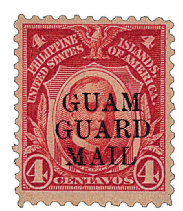 1930 4c Guam Guard Mail, Carmine