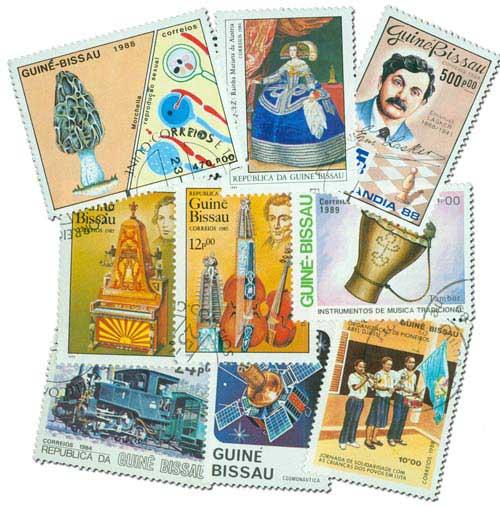100 Guinea Bissau Stamps
