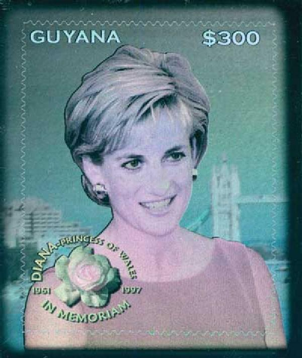 1998 Guyana Princess Diana Hologram
