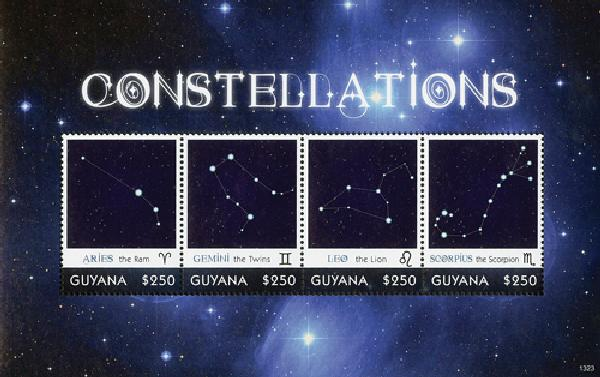 2013 $250 Constellations Sheet of 4