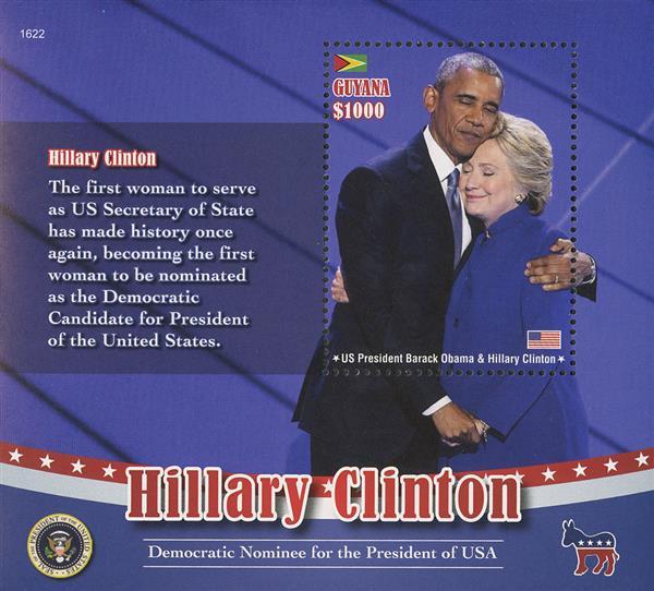 2016 $1000 Hillary Clinton & Obama s/s