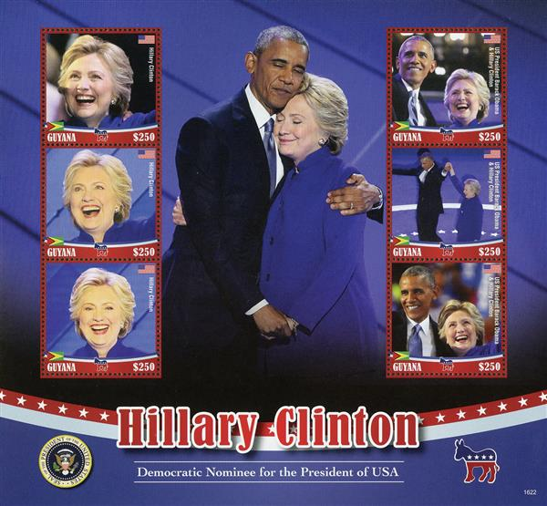 2016 $250 Hillary Clinton & Obama sheet