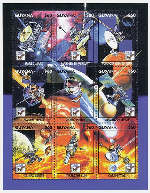 1994 Guyana 2874 Space Missions, 9v