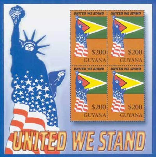 Guyana, $200 United We Stand, S/S, mint