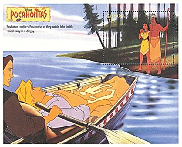 Guyana 1995 Pocahontas & Powhatan, S/S