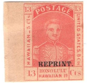 1889 13c Hawaii, orange red