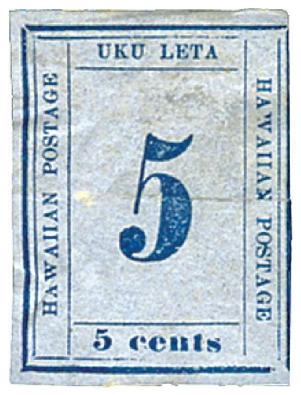 1864-65 5c blue (blue)