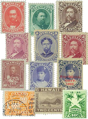 1886-94 Hawaii, Set of 12 Used