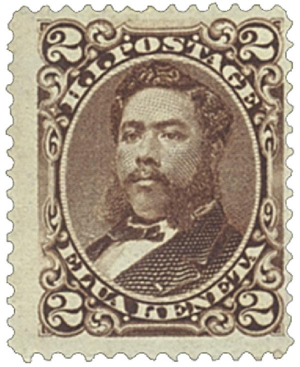 1875 2c Hawaii, brown, perf 12, wove paper
