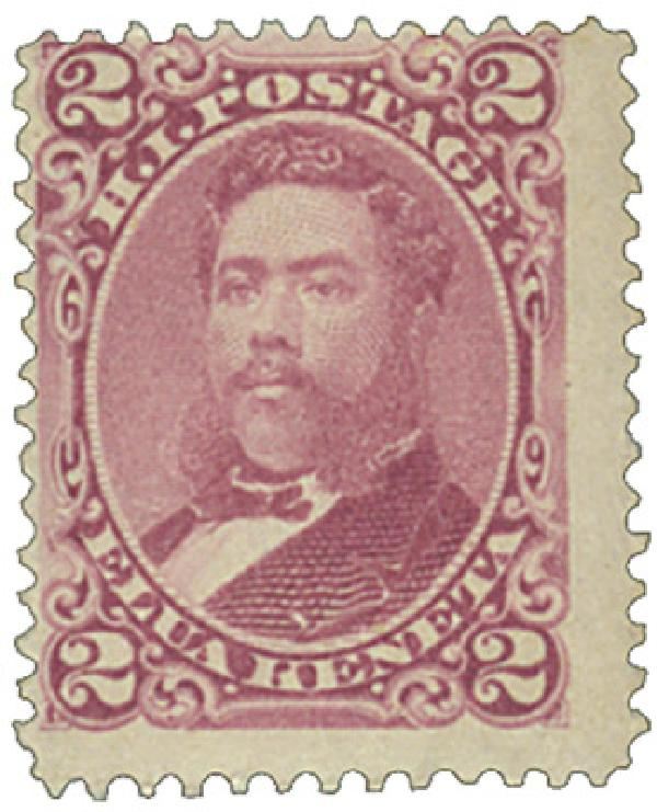 1882 2c Hawaii, lilac rose, perf 12, wove paper