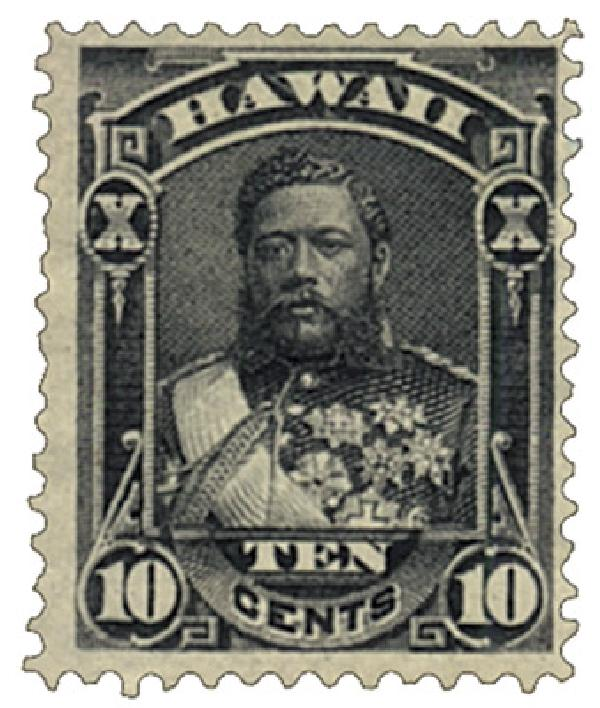1882 10c Hawaii, black, perf 12, wove paper