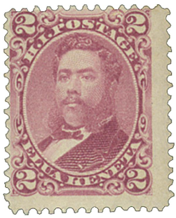 1883-86 2c Hawaii, rose,  perf 12, wove paper