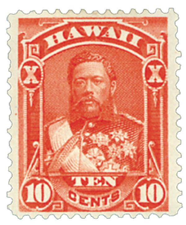 1883-86 10c Hawaii, vermilion, perf 12, wove paper
