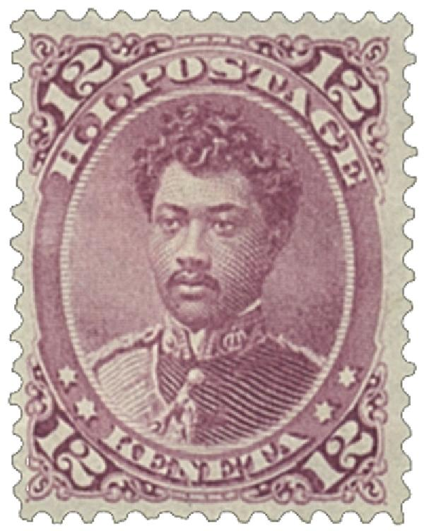1883-86 12c Hawaii, red lilac, perf 12, wove paper