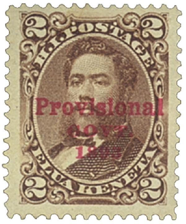 1893 2c Hawaii, brown, red overprint