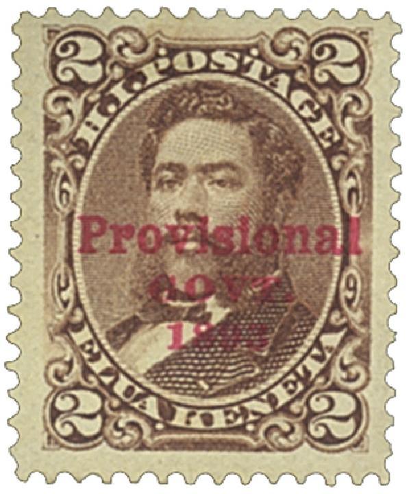 1893 2c Hawaii, brown, red overprint