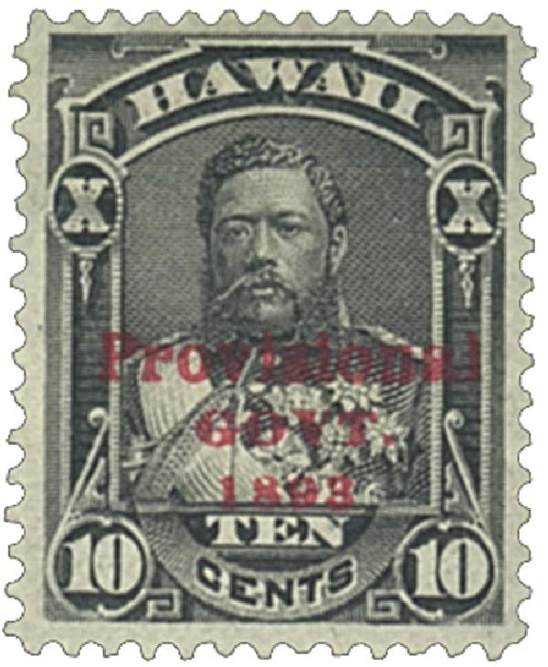 1893 10c Hawaii, black, red overprint