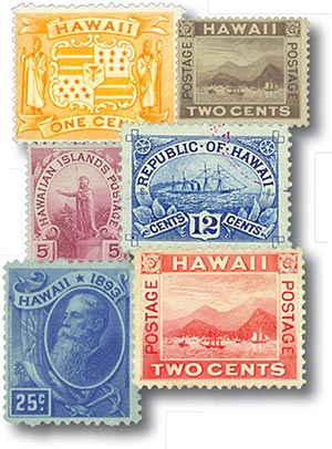 1894-99 Hawaii Stamps H74//81 6v used