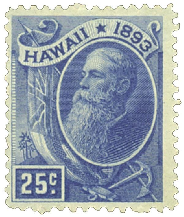 1894 25c Hawaii, deep blue,  President Dole